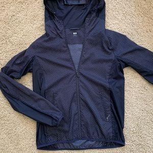Uniqlo Navy Polka Dot Rain Jacket / Windbreaker